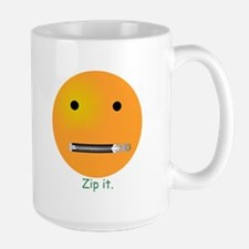 Zip It Smiley Face Emoticon Mug