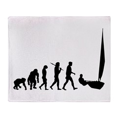 Sailing Evolution Throw Blanket