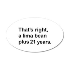 Lima Bean? 22x14 Oval Wall Peel
