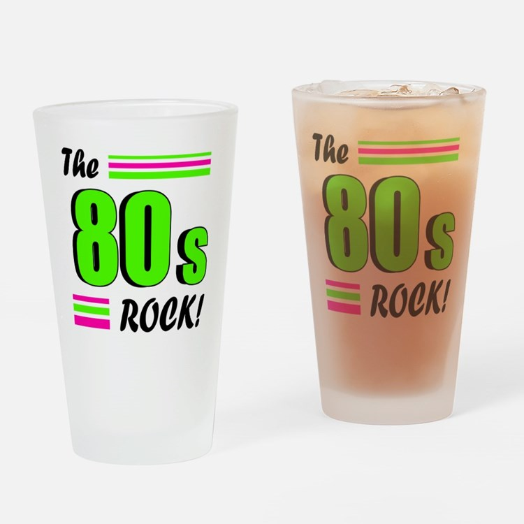 'The 80s Rock!' Pint Glass
