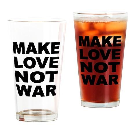 'Make Love Not War' Pint Glass