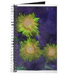 sunflowers yellow journal