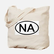 NA - Initial Oval Tote Bag