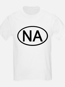 NA - Initial Oval Kids T-Shirt