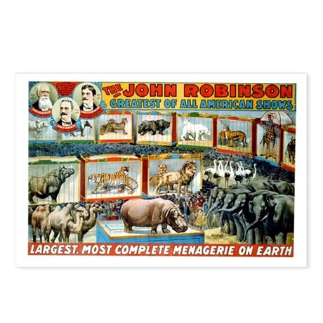 John Robinson Circus Menagerie Postcards (Package