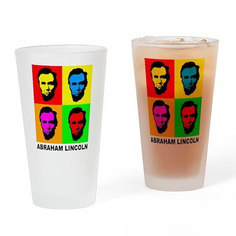 Abraham Lincoln Pint Glass