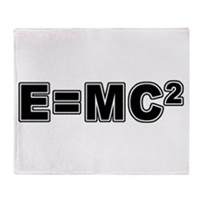 E=MC Square Throw Blanket