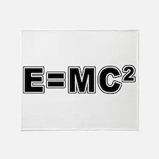 E=MC Square Throw Blanket