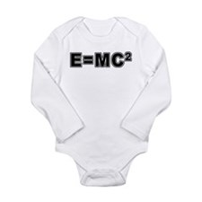 E=MC Square Long Sleeve Infant Bodysuit