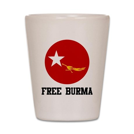 Free Burma Shot Glass
