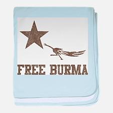 Vintage Free Burma baby blanket
