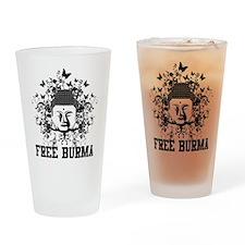 Buddha Free Burma Pint Glass