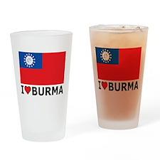 I Love Burma Pint Glass