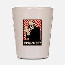 Dalai Lama Free Tibet Shot Glass
