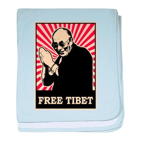 Dalai Lama Free Tibet baby blanket