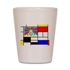 Pop Art Tibet Flag Shot Glass