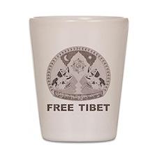 Vintage Free Tibet Shot Glass