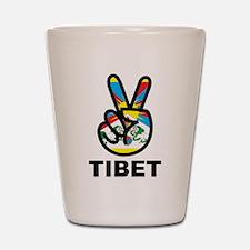 Peace In Tibet Shot Glass