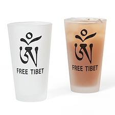 Tibetan Om Symbol Pint Glass