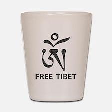 Tibetan Om Symbol Shot Glass