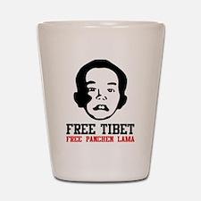 Free Panchen Lama Shot Glass