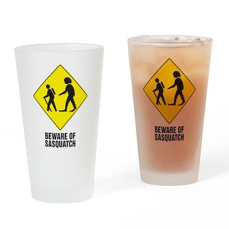 Beware Of Sasquatch Pint Glass
