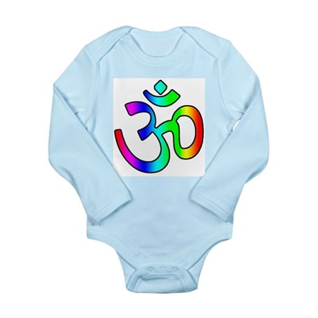 Rainbow Om Long Sleeve Infant Bodysuit