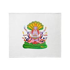 Hinduism Vishnu Throw Blanket