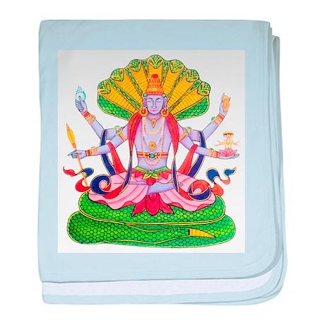 Hinduism Vishnu baby blanket by esangha