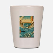 Hiroshige Navaro Rapids Shot Glass