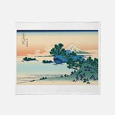 Cute Hokusai Throw Blanket