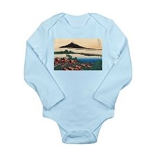 Hokusai Dawn at Isawa Long Sleeve Infant Bodysuit