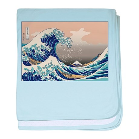 Hokusai The Great Wave baby blanket