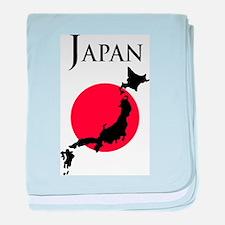 Map Of Japan baby blanket