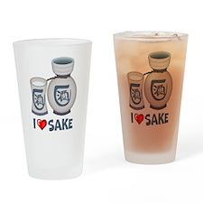 I Love Sake Pint Glass