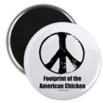 Footprint of the American Chicken Magnet