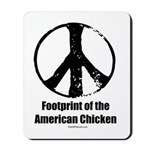 Footprint of the American Chicken Mousepad