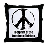 Footprint of the American Chicken Throw Pillow