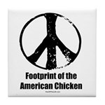Footprint of the American Chicken Tile Coaster