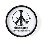 Footprint of the American Chicken Wall Clock