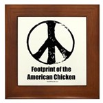 Footprint of the American Chicken Framed Tile
