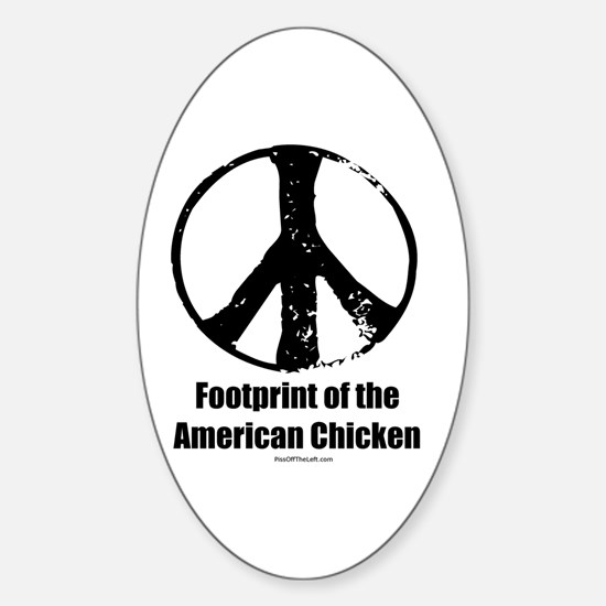 Footprint of the American Chicken Oval Decal