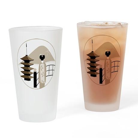 Vintage Japan Pint Glass
