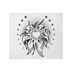 Flower Heart Throw Blanket