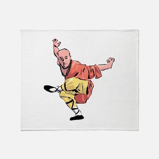 Shaolin Kungfu Throw Blanket