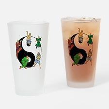 Yin Yang Kung Fu Pint Glass