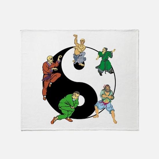 Yin Yang Kung Fu Throw Blanket