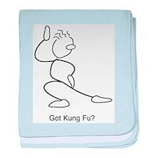 Got Kung Fu? baby blanket