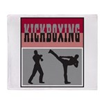 Kick boxing Throw Blanket