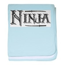 Vintage Ninja baby blanket